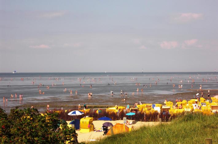 Strandleben in Cuxhaven Duhnen