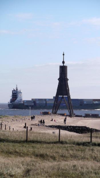 Die Kugelbake, das Wahrzeichen von Cuxhaven.