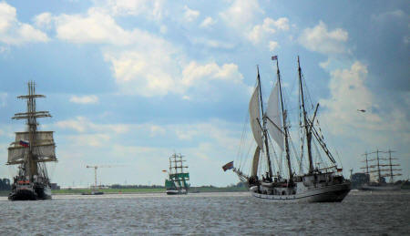 Bremerhaven, Einlaufparade Sail 2010