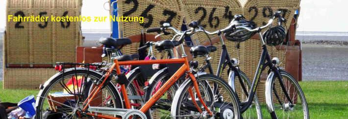 Fahrr?er stehen kostenlos zur Verf?ung.