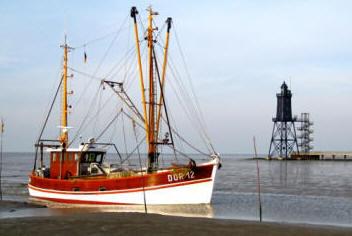 Kutter kommen vom Fischfang zur�ƒ¼ck