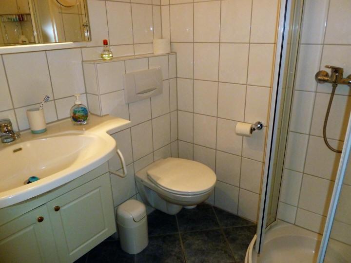 Badezimmer vom Haus Sonnenstrahl Nr.6. Vermietbar ab 1.4.2017