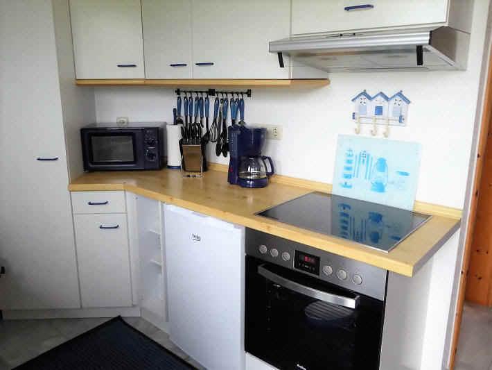 Küche mit Ceranfeldern