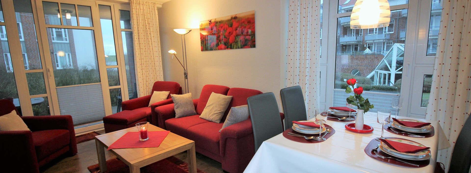 Vitamar Dorum-neufeld, schöne ferienwohnungen z.B. dat Schott mit Hallenbadnutzung