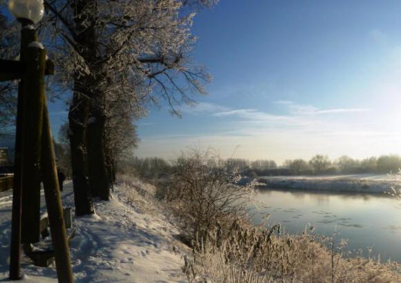 Die Weser im Winter
