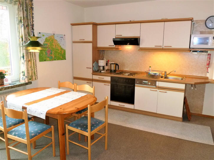 die Küche in der Ferienwohnung Wiking
