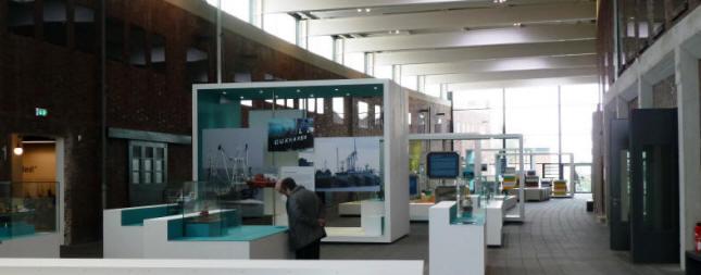 die gro? Ausstellungshalle vom Museum Windstaerke 10 in Cuxhaven