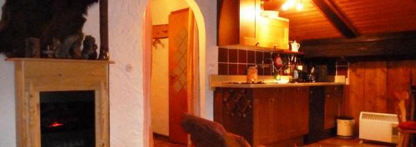 Die ferienwohnung in Bischofsmais mit Kamini und Küchenzeile