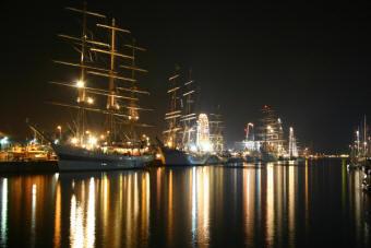 Hafen Cuxhaven bei Nacht