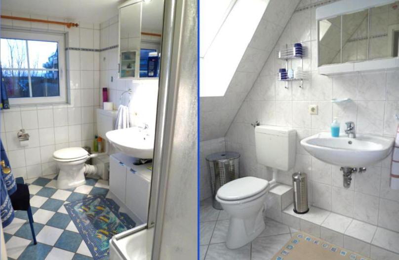 2 Badezimmer in der Ferienwohnung Wegmann
